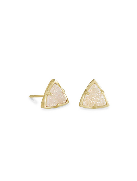Perry Stud Earring - Gold / Iridescent Drusy
