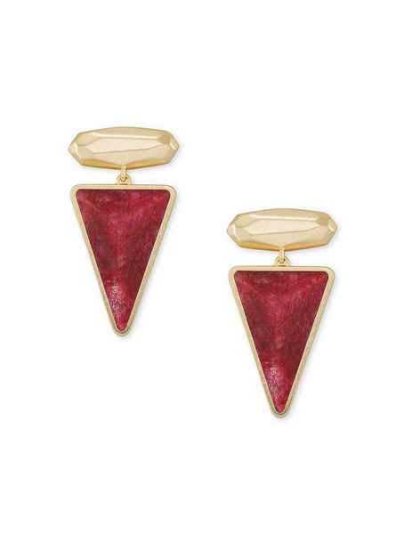Vivian Drop Earring - Gold / Raspberry Labradorite