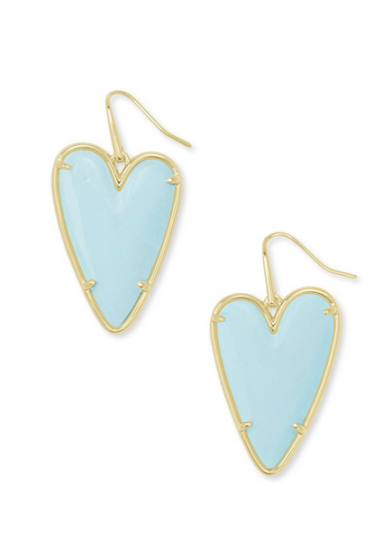 Ansley Drop Earring - Gold / Light Blue Magnesite