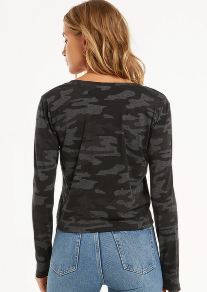 Skimmer Camo Long Sleeve Pocket Tee