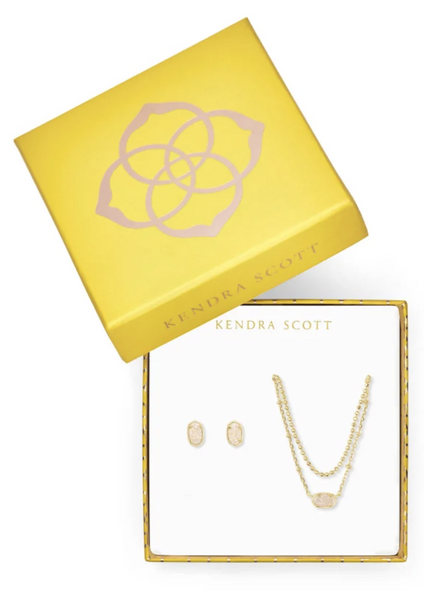 Emilie Gift Set - Gold / Iridescent Drusy