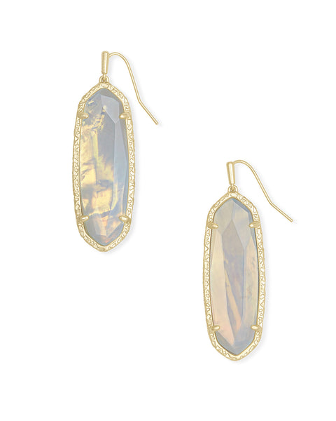 Layla Drop Earring - Gold Opalite Illusion