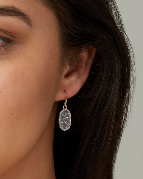 Lee Earring - Silver / Iridescent Drusy