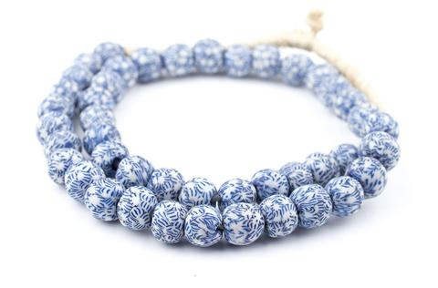 Blue + White Glass Beads - Macy Carlisle