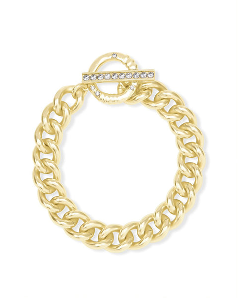 Whitley Chain Bracelet in Vintage Gold Metal