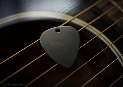Ti-TEC Black Diamond Titanium Guitar Pick