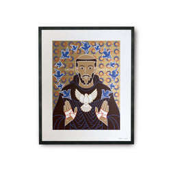 tuttiSanti - poster - Saint Francis - San Francesco - front - shop design contemporary art prints