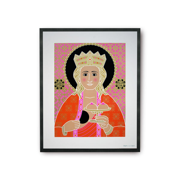 tuttiSanti - poster - Saint Agata - Santa Lucia - front - shop design contemporary art prints