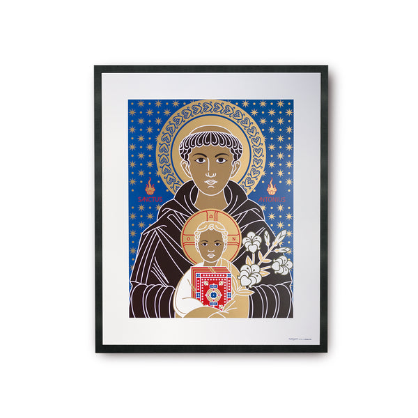 tuttiSanti - poster - Saint Anthony - Sant'Antonio - front - shop design contemporary art prints