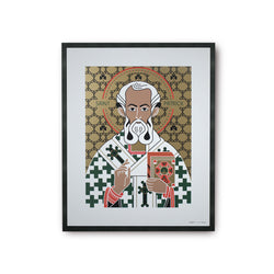 tuttiSanti - poster - Saint Patrick - San Patrizio - front - shop design contemporary art prints
