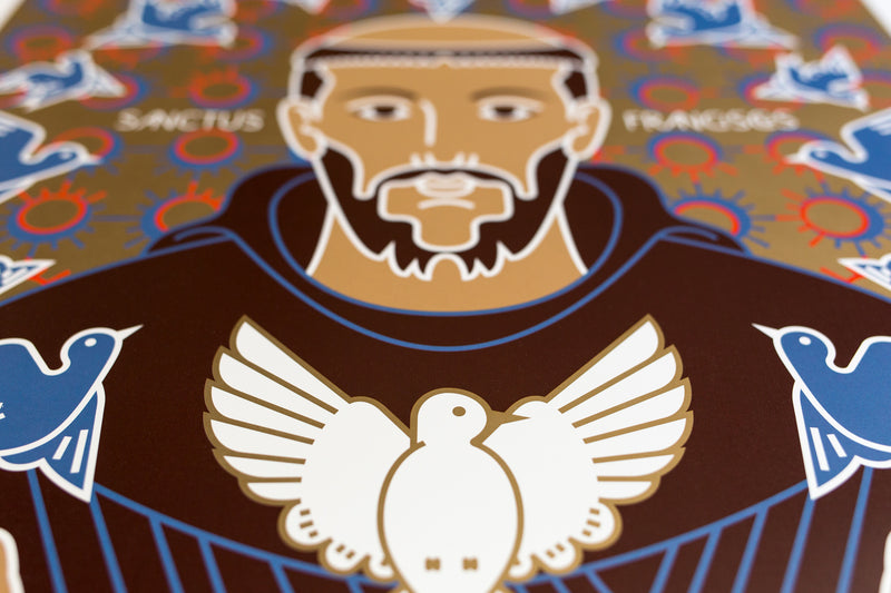 tuttiSanti - poster - Saint Francis - dove - shop design contemporary art prints