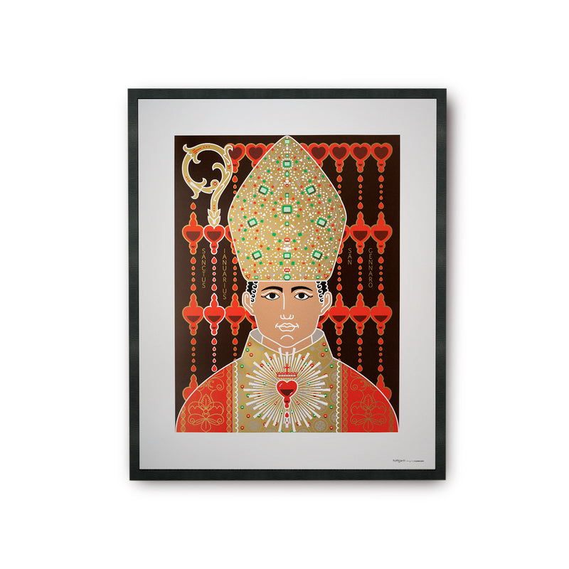 tuttiSanti - poster - Saint Gennaro - front - shop design contemporary art prints
