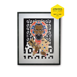 tuttiSanti - poster - Saint Nicholas - San Nicola - front - shop design contemporary art prints