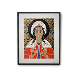 tuttiSanti - poster - Saint Lucy - Santa Lucia - front - shop design contemporary art prints