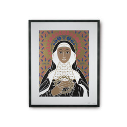 tuttiSanti - poster - Saint Rita - front - shop design contemporary art prints