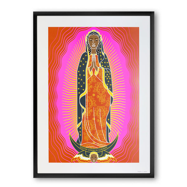 tuttiSanti - poster - Nuestra Señora de Guadalupe - front - shop design contemporary art prints