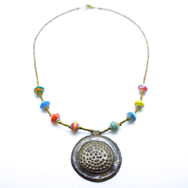 Cereal Box Medallion Necklace