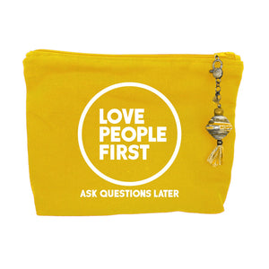 """Love People First"" - Canvas Zipper Bag"