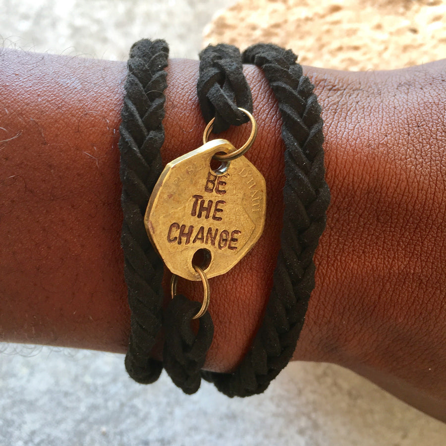 """Be the Change"" Wrap Bracelet"