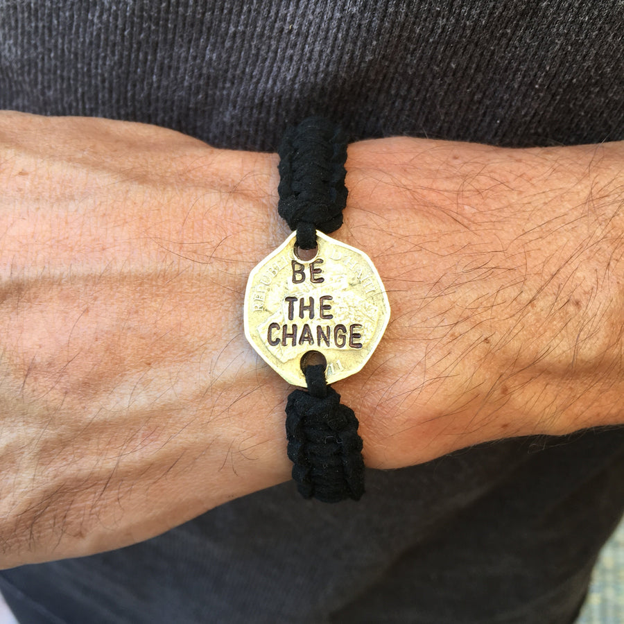 """Be the Change"" Men's Bracelet"