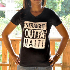 Straight Outta Haiti - Women's V-Neck