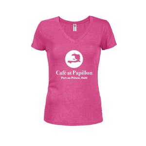 Cafe Papillon Women's V-neck Tee