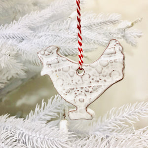 Farmhouse White Ceramic Ornament Set