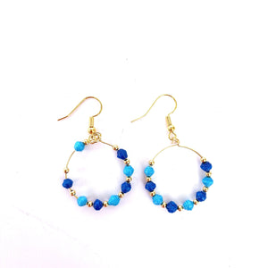 Microbead Hoop Earrings