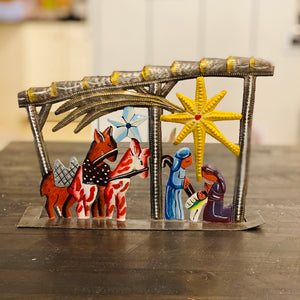 Stable Nativity- Painted