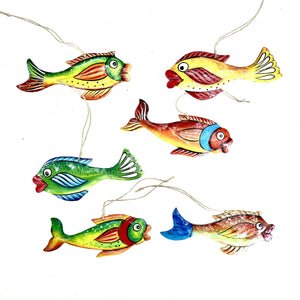 Fun Fish  Ornaments  (Set of 6)