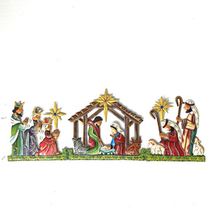 Colorful Hinged Trifold Nativity