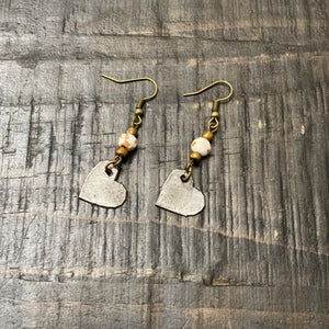 Steel Heart Earring