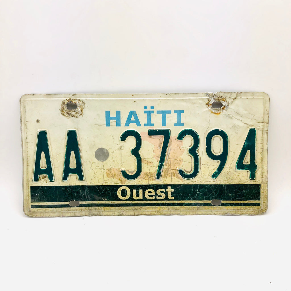 Authentic Haitian License Plate
