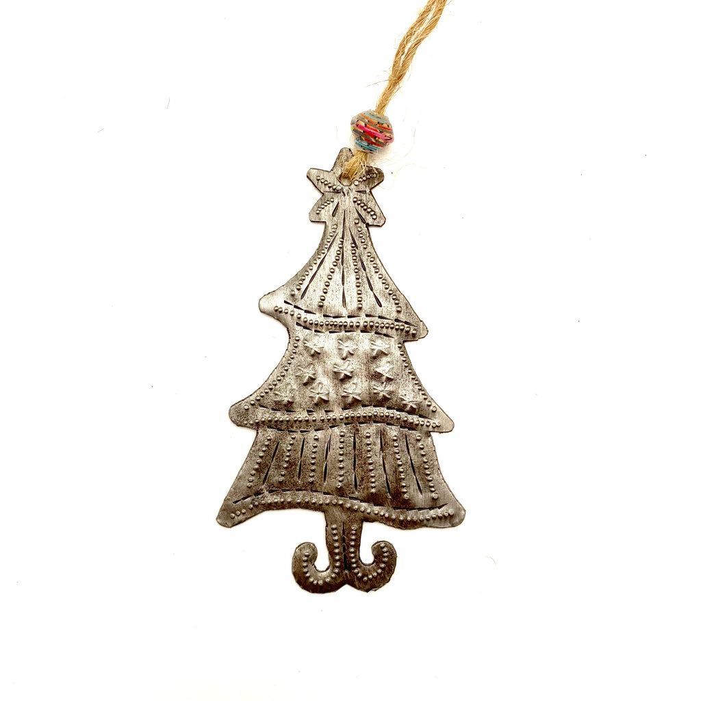 Steel Whimsical Tree Ornament