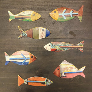 BEST SELLER! Set of 7 Painted Fish