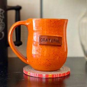 Grateful Mug - Orange Sprinkles