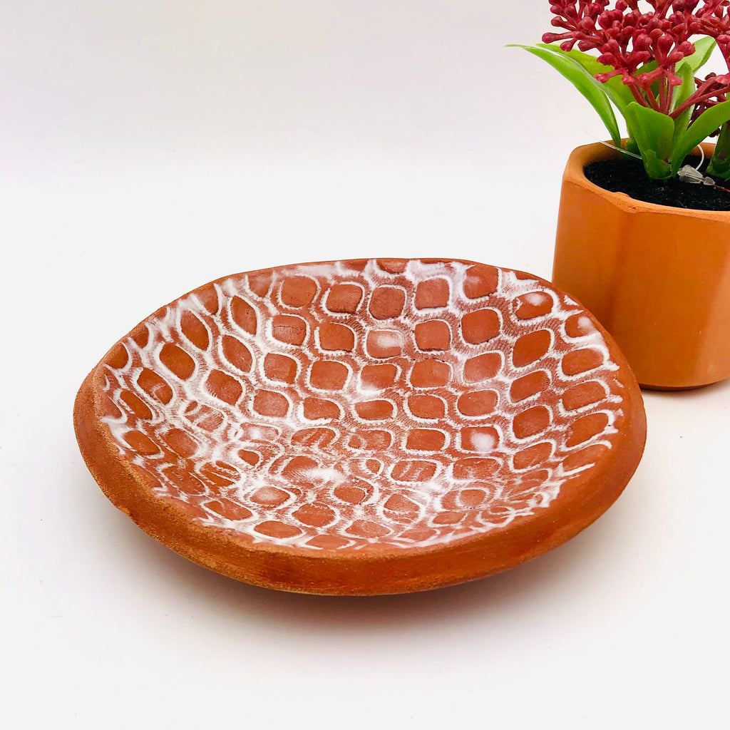 New! Round Lace Print Soap Dish