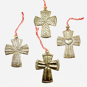 Steel Cross Ornament