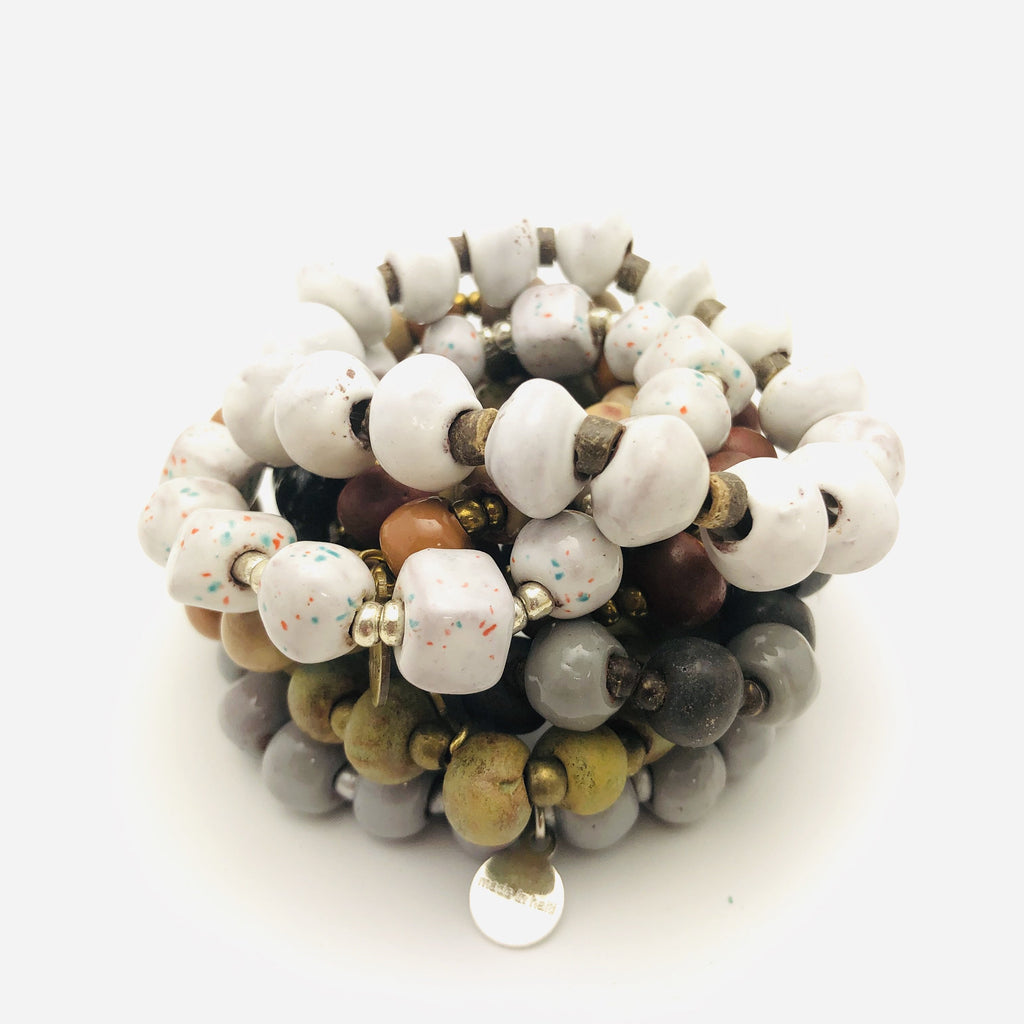 Ceramic Bead Bracelets (10 Pack)