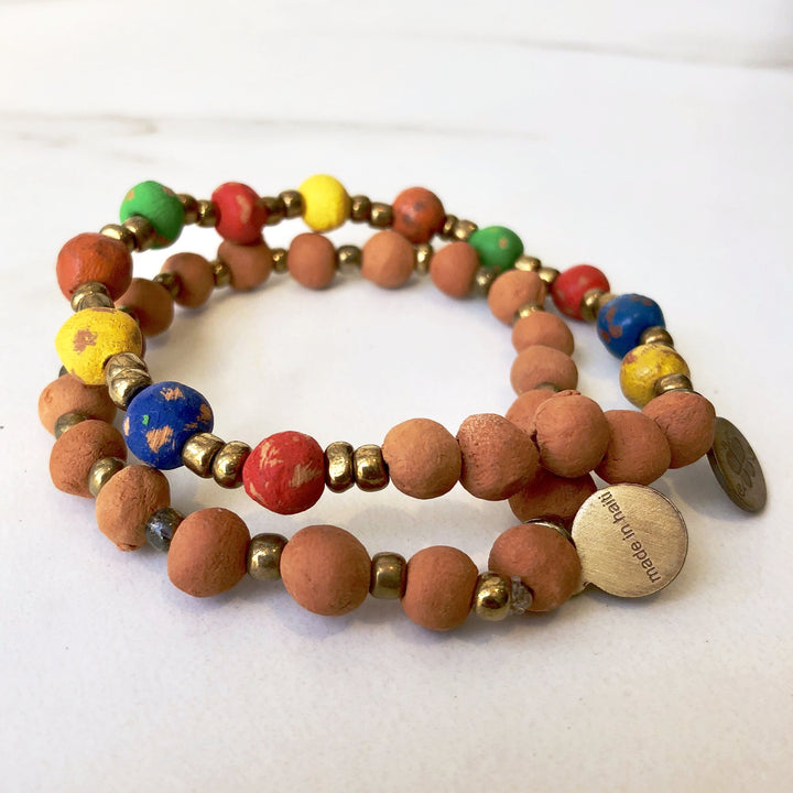 Rainbow Essential Oil Bracelet Set