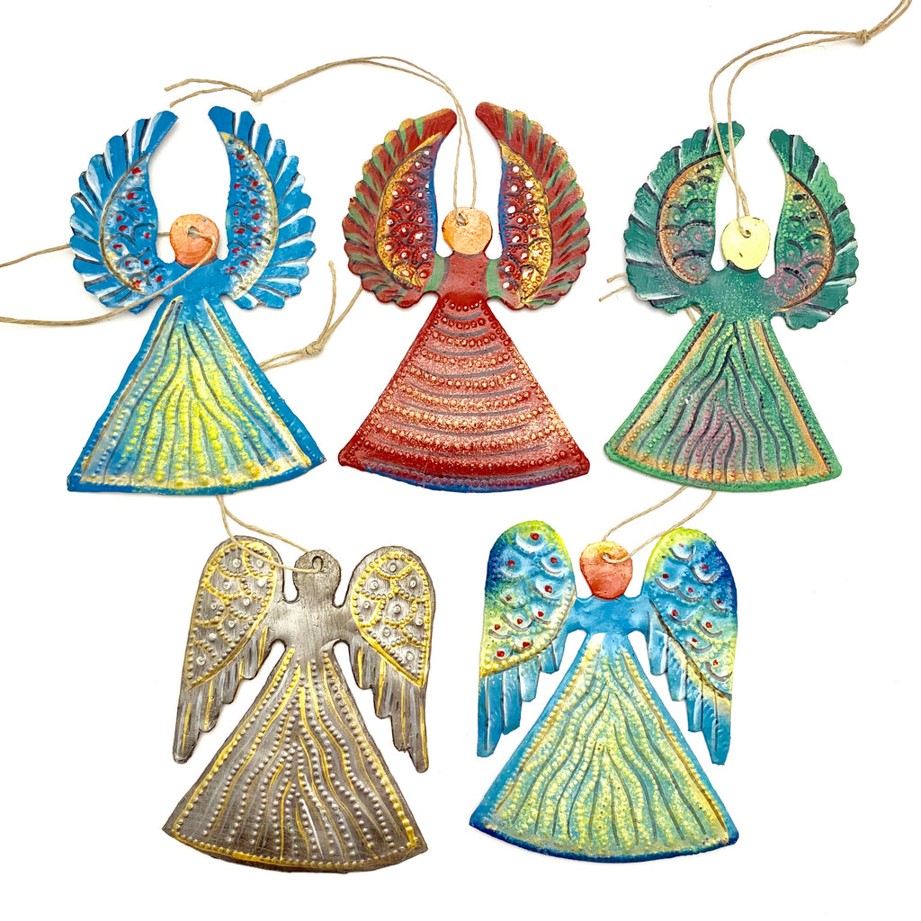 BEST SELLER! Set of 5 Painted Angels