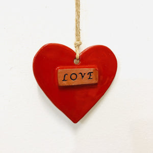 Ceramic Love Ornament