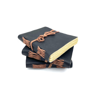 Handmade Journal - Black Leather