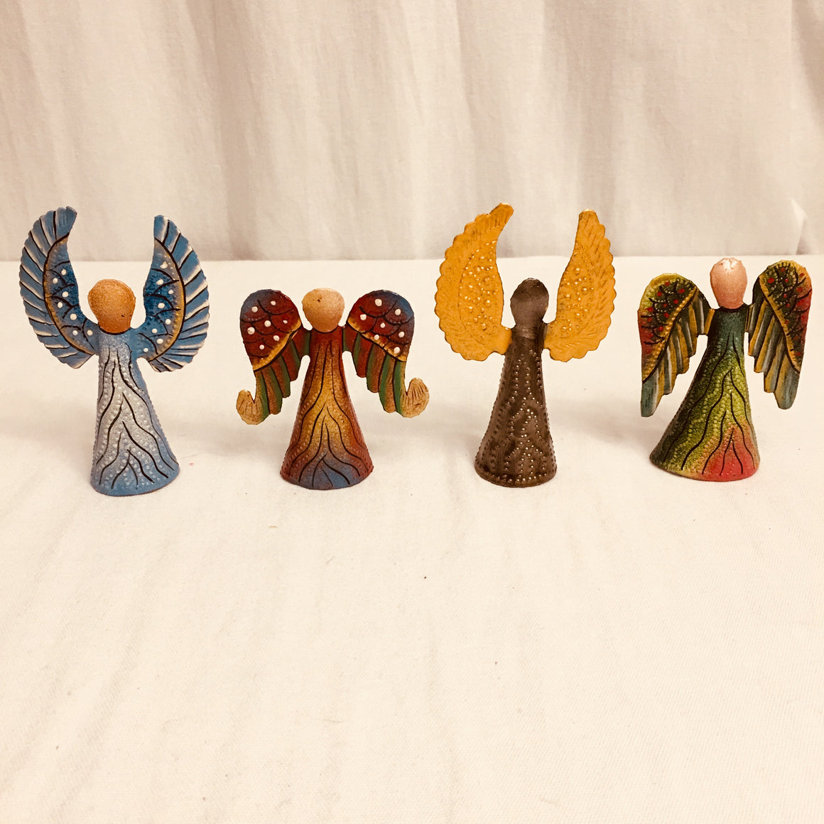 Set of 4 Painted Colorful Angels