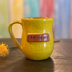 I AM Happy Mug - Yellow Sprinkles