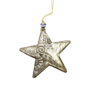 Floral Metal Star Ornament