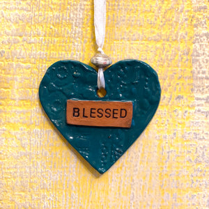 Ceramic Ornament - Blessed Heart