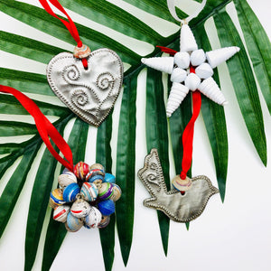 Handcrafted Christmas Ornaments (60 Pack)