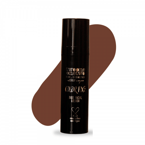 Base Liquida Base Facial Color Fix Twoone Onetwo 7 Chocolate Brown 30g