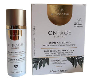 Creme Facial Pré Venda VegFest ONFACE CLINICAL Antissinais BIOZENTHI 30ML